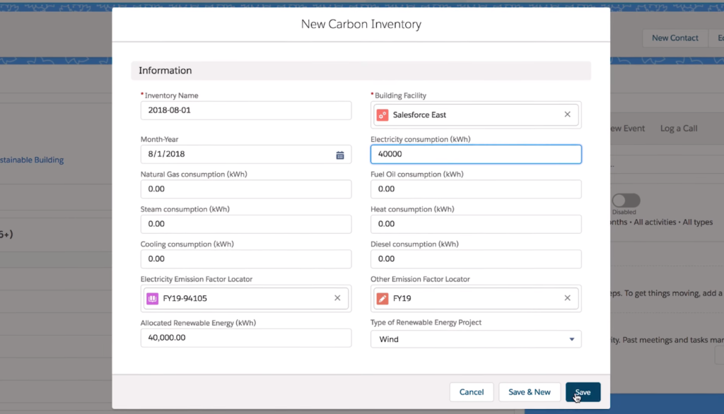 New Carbon Inventory