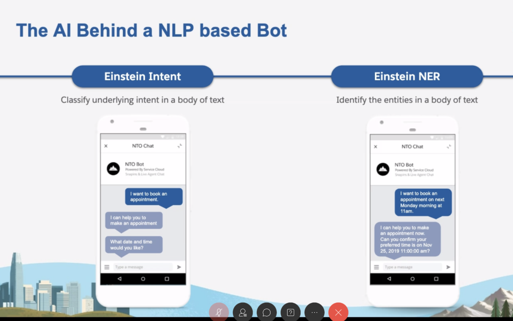 The AI Behind a NLP based Bot
