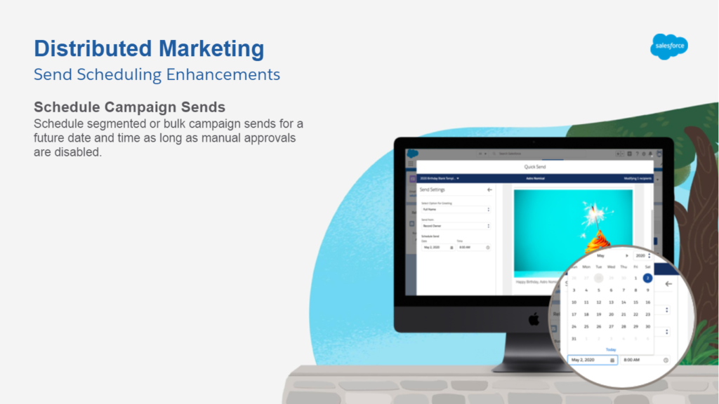 Distributed Marketing - Feature - Send Scheduling Enhancements